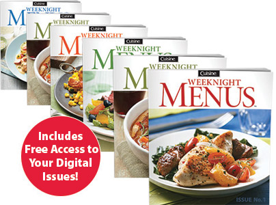 cuisine weeknight menus